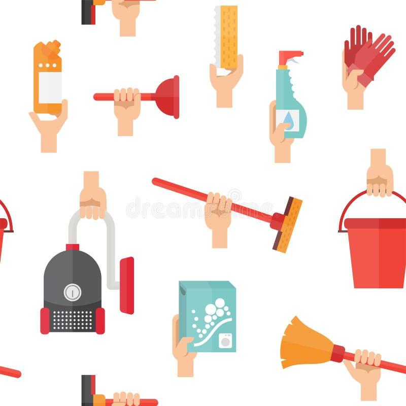 Approvisionnements de service de nettoyage illustration de vecteur