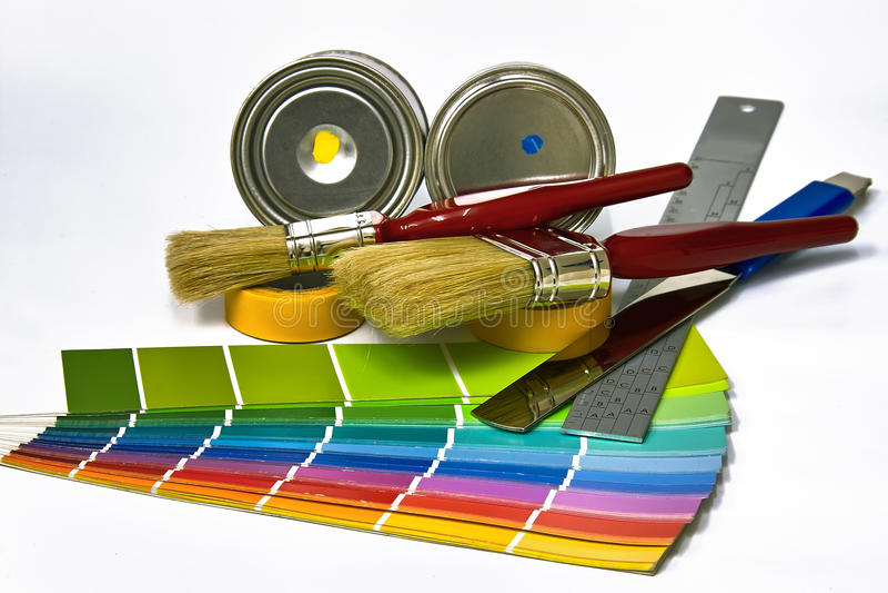 Approvisionnements pour la peinture image libre de droits
