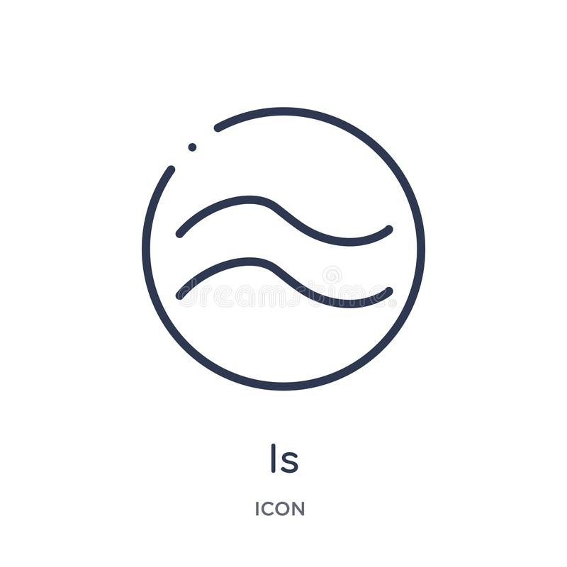 is approximately equal to icon from shapes and symbols outline collection. Thin line is approximately equal to icon isolated on stock illustration