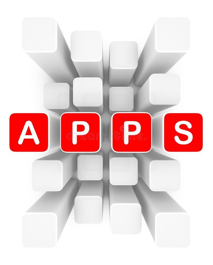 apps云彩  库存例证
