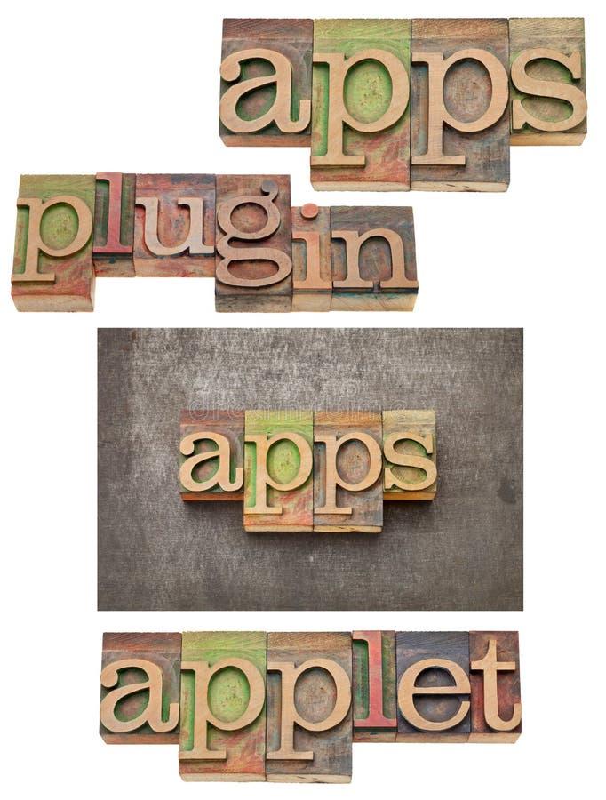 Apps (εφαρμογές), βύσμα μέσα, applet στοκ εικόνα με δικαίωμα ελεύθερης χρήσης