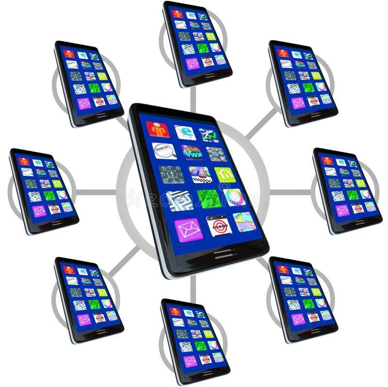 apps τηλέφωνα δικτύων έξυπνα ελεύθερη απεικόνιση δικαιώματος