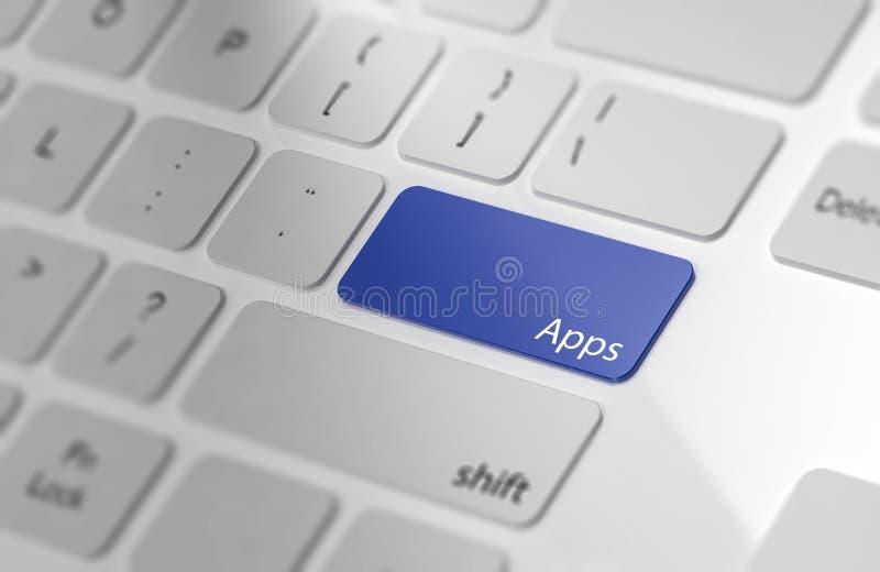 Apps - bouton sur le clavier d'ordinateur illustration libre de droits