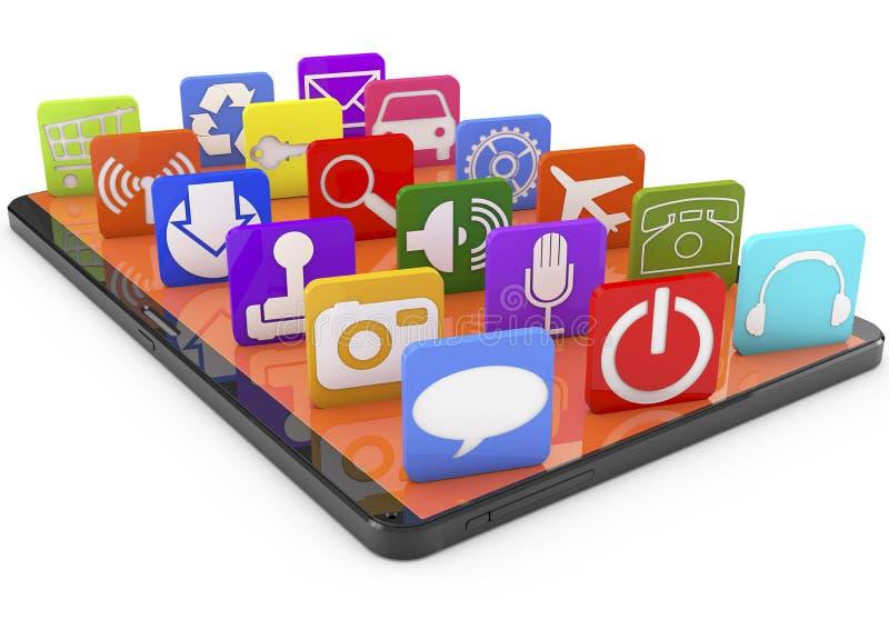 Apps de Smartphone illustration stock