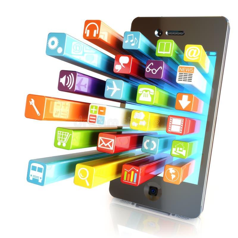 Apps di Smartphone illustrazione vettoriale