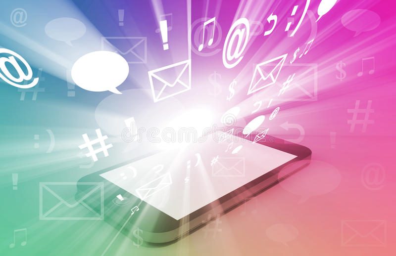 Apps di Smartphone illustrazione di stock