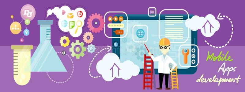 Apps do móbil do desenvolvimento ilustração stock