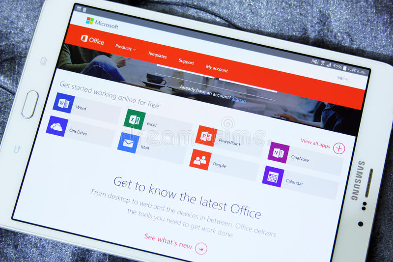 Apps do Microsoft Office fotografia de stock