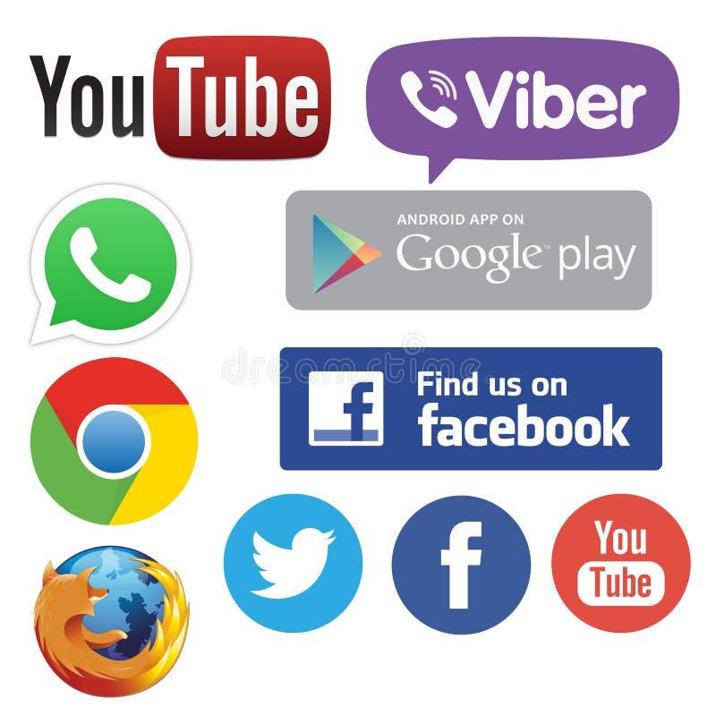Apps dos trabalhos em rede dos meios ilustração stock
