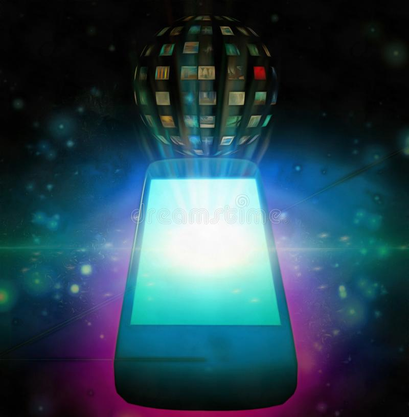 Apps espertos do telefone ilustração royalty free