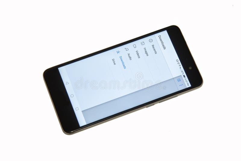 Apps espertos do telefone do telefone celular foto de stock royalty free