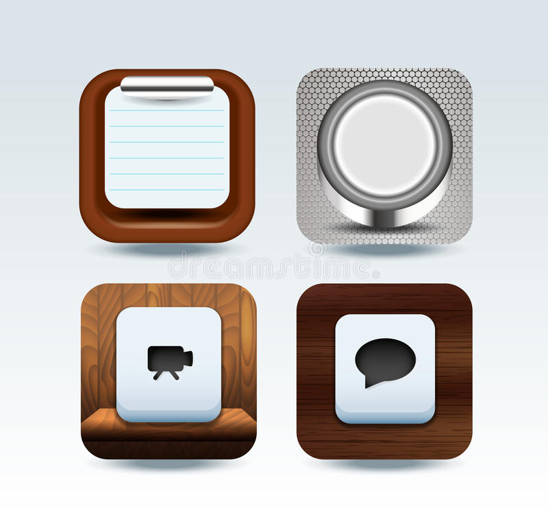 Download Apps Icon Set  Illustration Stock Image - Image: 28662707