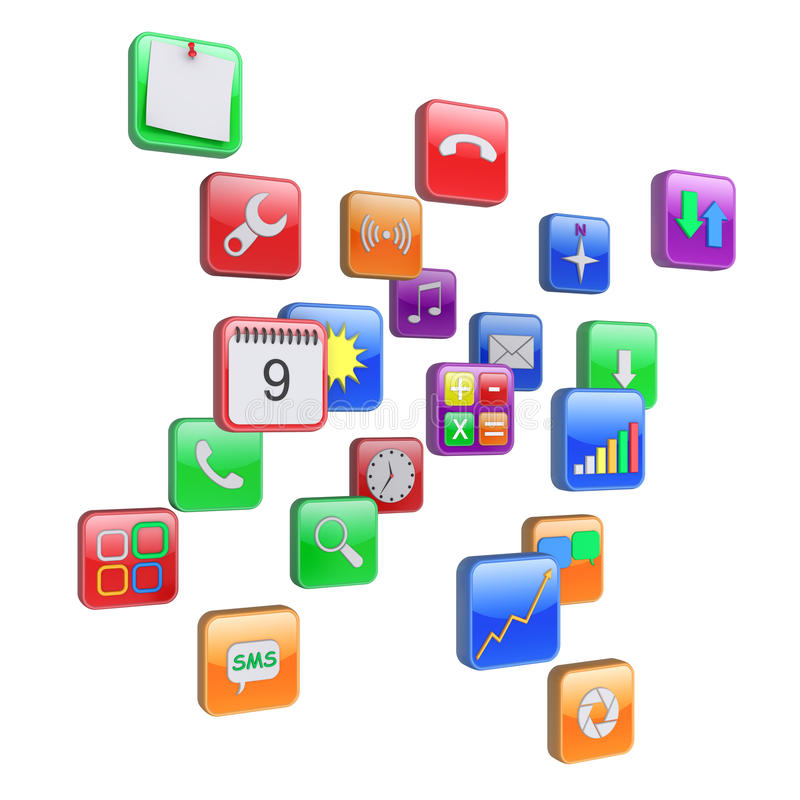 Apps icons vector illustration