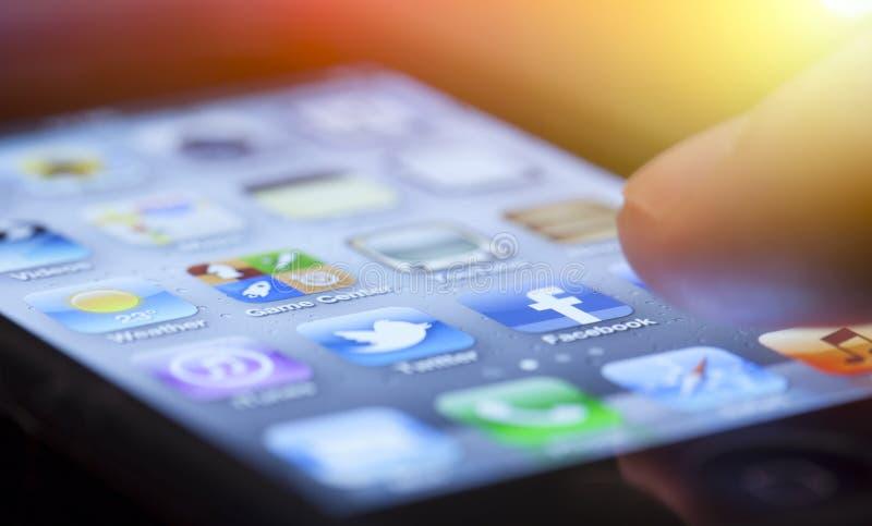 Apps IPhone стоковая фотография