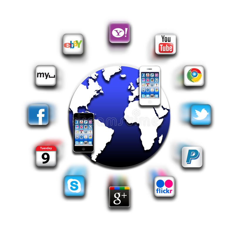 Apps Iphone Mobile World Network Editorial Image