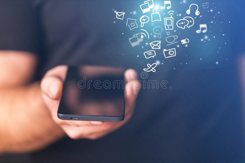 Apps móveis imagens de stock royalty free