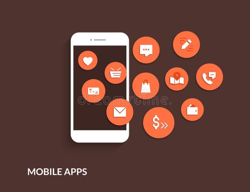 Apps mobiles illustration de vecteur