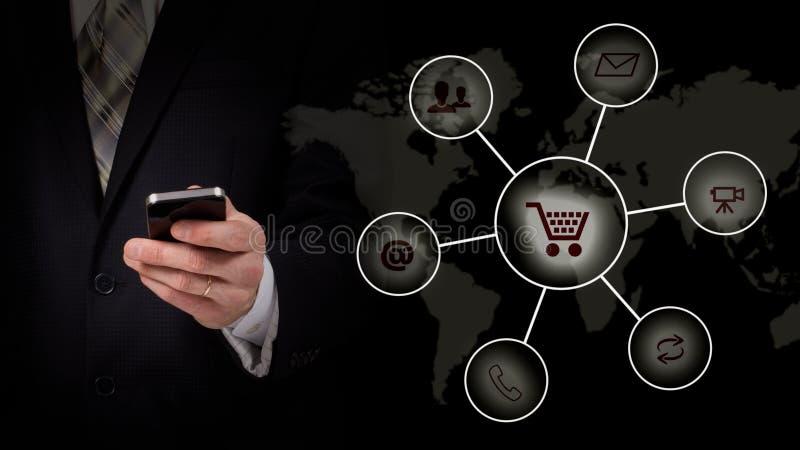 Apps mobiles c de smartphone de développement d'applications sans fil d'Internet de technologie numérique du réseau de transmissi photo stock