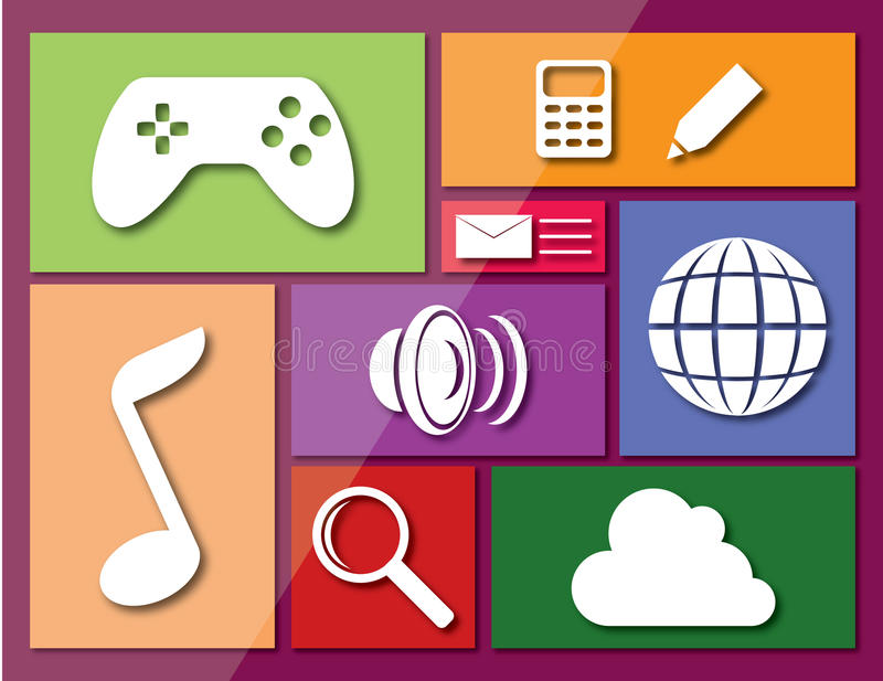 Dotyka ekranu interfejs ilustracji