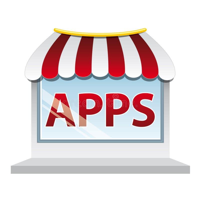 Apps shop window stock image