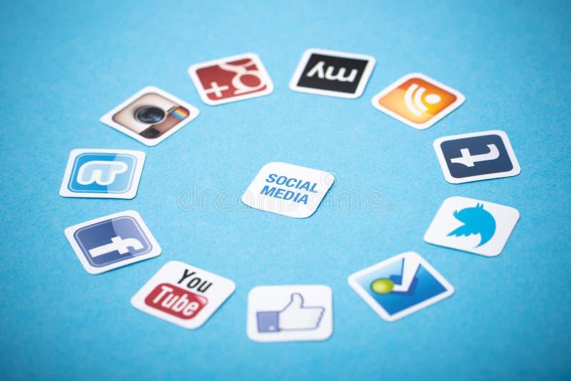 Apps sociais dos meios fotografia de stock