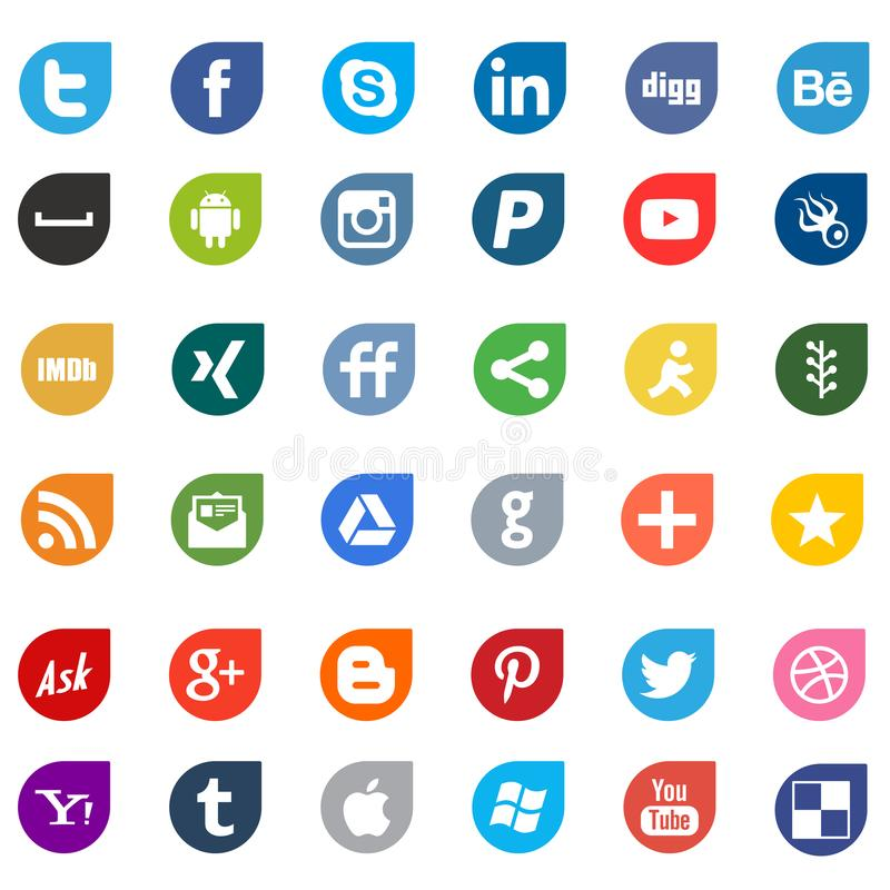 Apps social media networking logo signs royalty free illustration