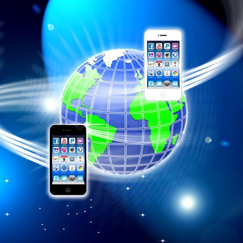 Apps sur un réseau sans fil mobile bloqué illustration de vecteur