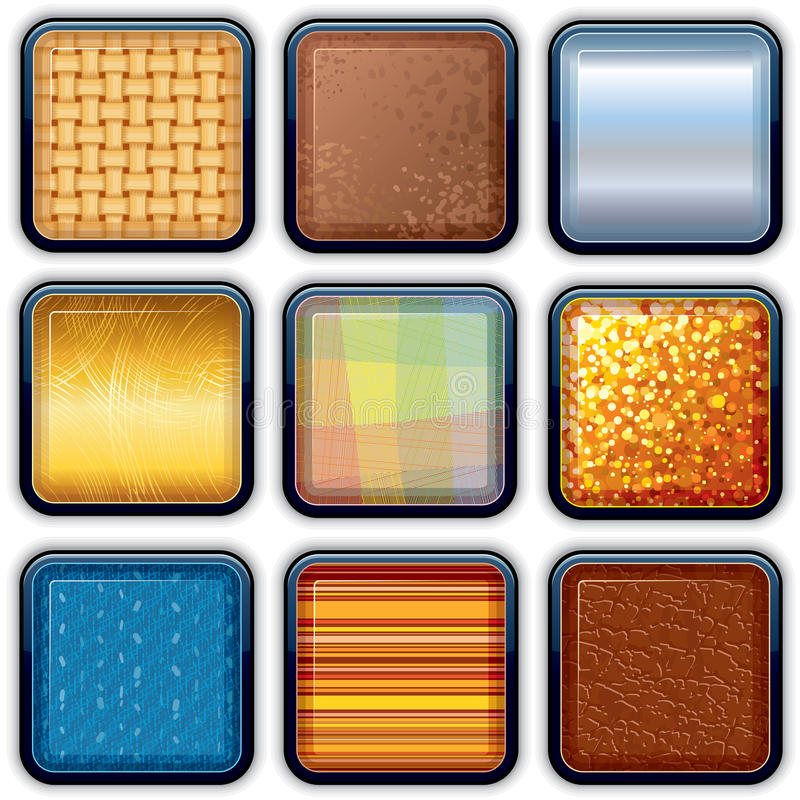 Apps Textured as teclas 1 ilustração royalty free