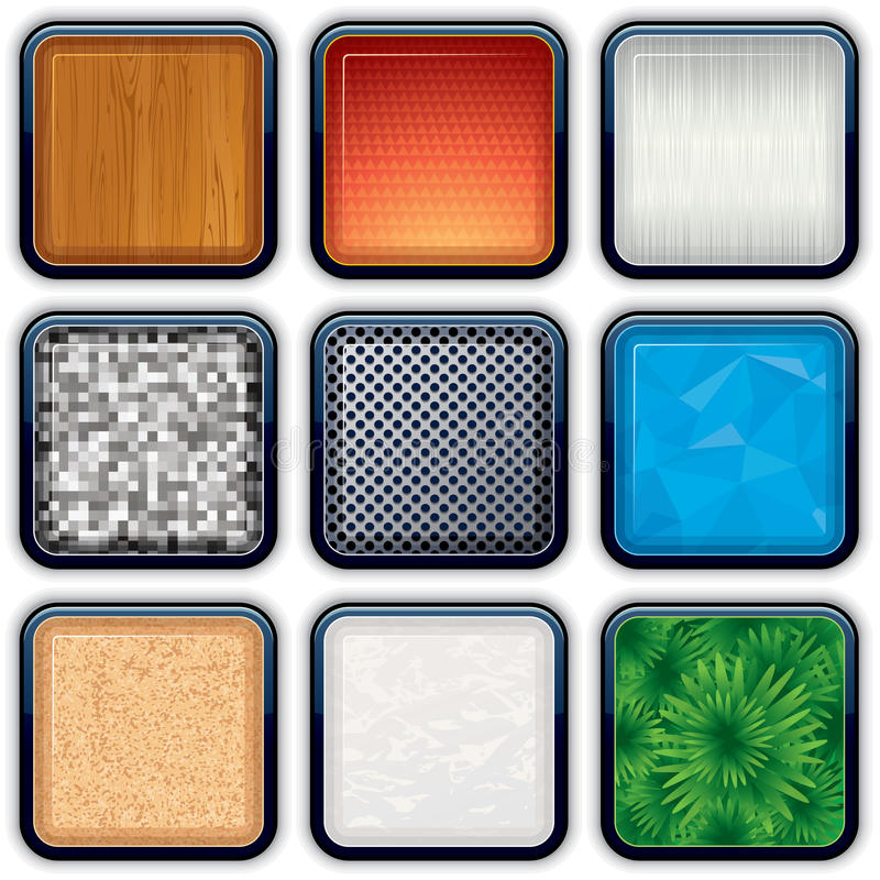 Apps Textured Buttons 2 Royalty Free Stock Images