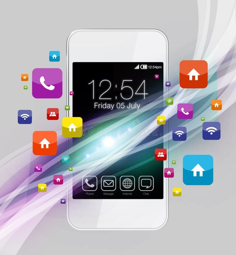 Apps variopinti sullo smartphone immagini stock libere da diritti