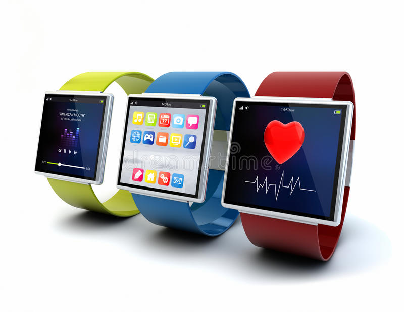 Apps on wearables vector illustration