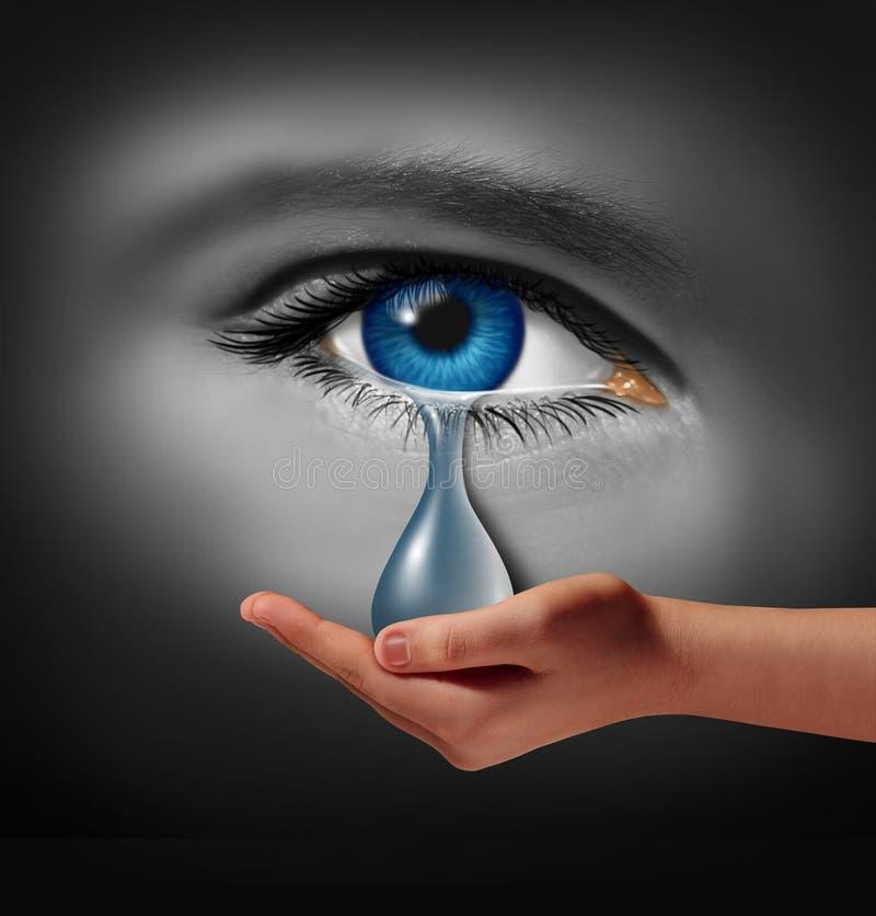 Appui de dépression illustration libre de droits