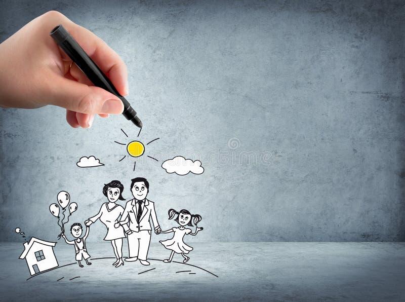 Appui de famille - concept d'assurance photos libres de droits