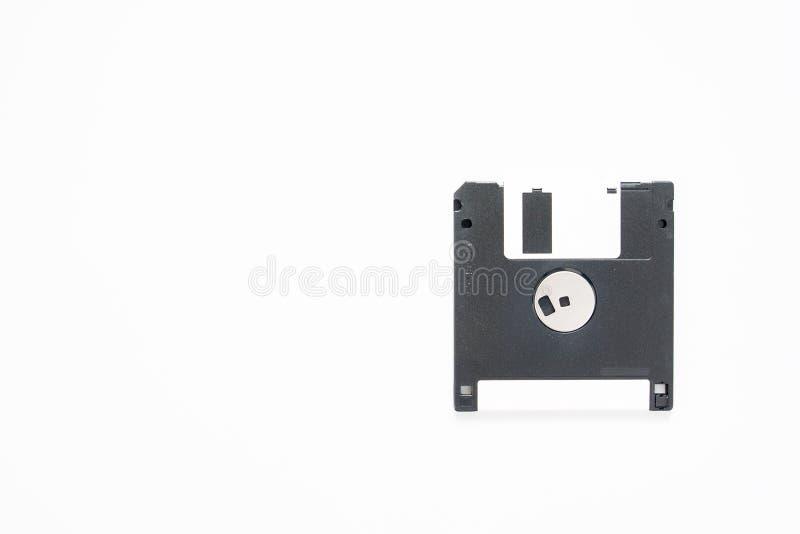 Appui magnétique à disque souple de stockage de données d'ordinateur sur le blanc photos libres de droits
