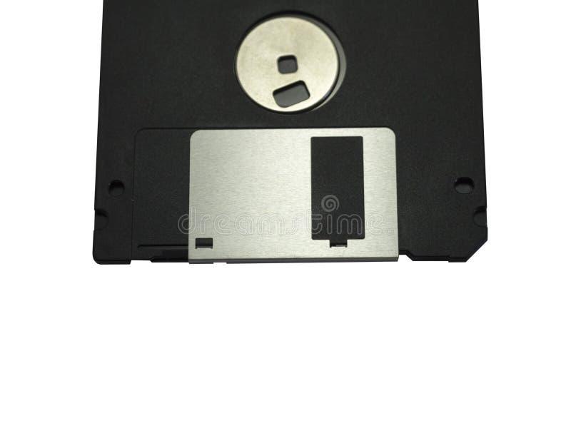 Appui magnétique à disque souple de stockage de données d'ordinateur sur le dos de blanc image stock