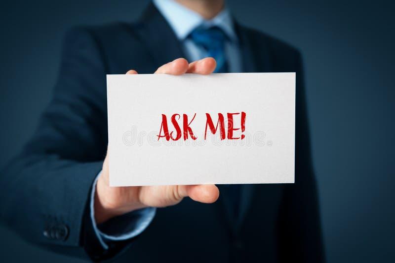 Appui professionnel de services à la clientèle d'expert ou photographie stock