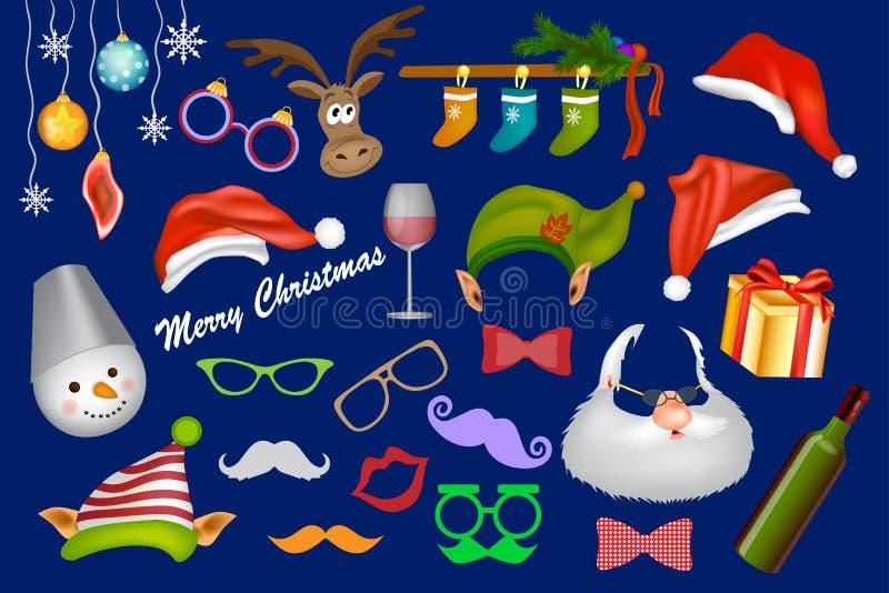 Appui vertical de cabine de photo de Noël illustration stock
