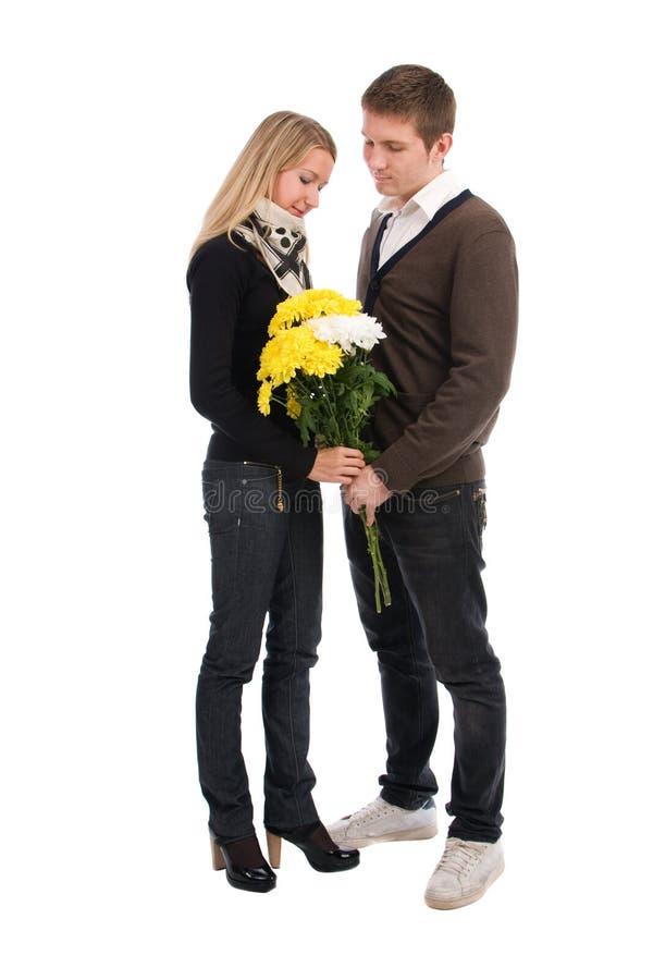 Appuntamento. Il tirante e la ragazza con in amore immagine stock
