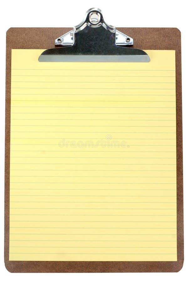 Appunti con la carta da lettere gialla immagini stock