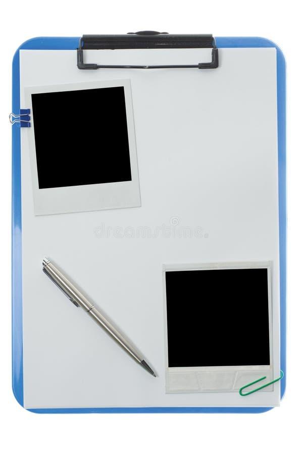 Appunti con le foto del polaroid fotografie stock libere da diritti