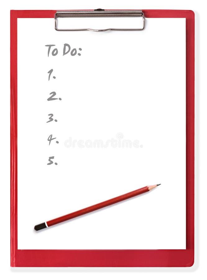 Appunti con per fare lista immagine stock libera da diritti