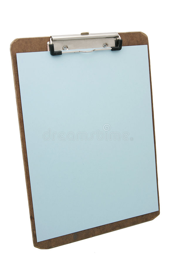 Appunti e documento blu fotografia stock