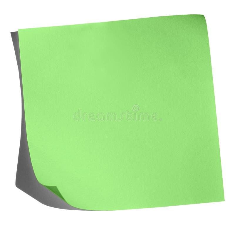 Appunto verde immagini stock