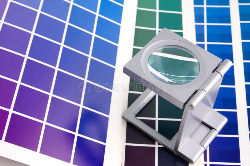 Appuyez le management de couleur image libre de droits