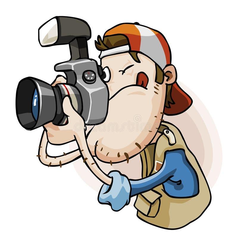 Appuyez les paparazzi illustration libre de droits