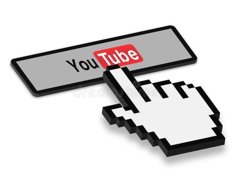 Appuyez sur le bouton de YouTube