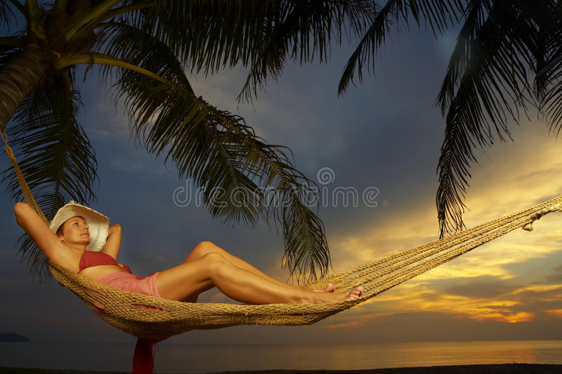 Après coucher du soleil image libre de droits