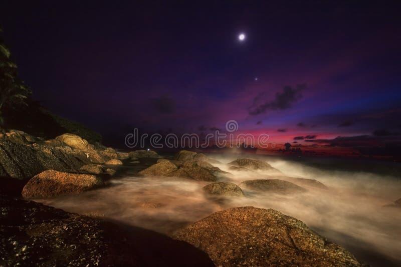 Après coucher du soleil sur Phuket photos stock