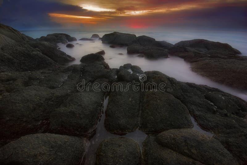 Après coucher du soleil sur Phuket image stock