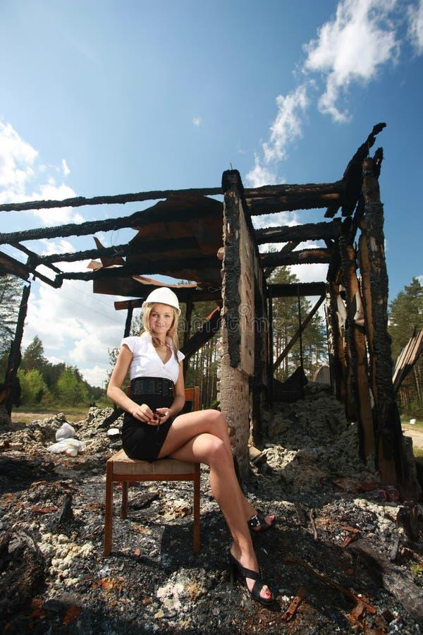Après incendie photo libre de droits